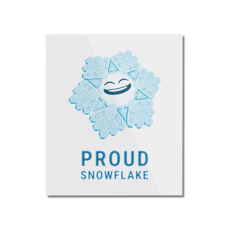 Proud Snowflake Home Mounted Acrylic Print by BRETT WISEMAN