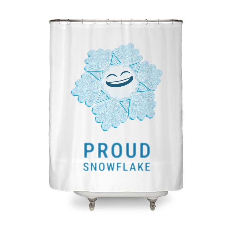 Proud Snowflake Home Shower Curtain by BRETT WISEMAN
