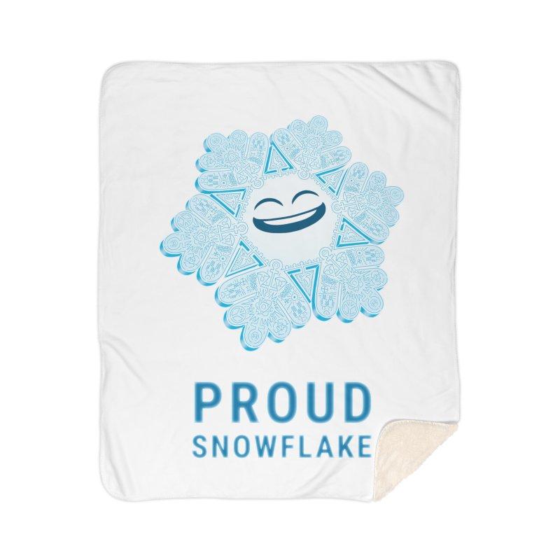 Proud Snowflake Home Sherpa Blanket Blanket by BRETT WISEMAN