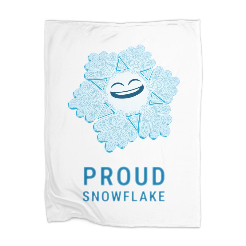 Proud Snowflake Home Blanket by BRETT WISEMAN