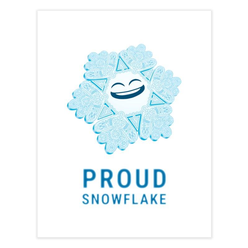 Proud Snowflake Home Fine Art Print by BRETT WISEMAN
