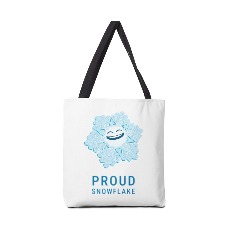 Proud Snowflake Accessories Tote Bag Bag by BRETT WISEMAN