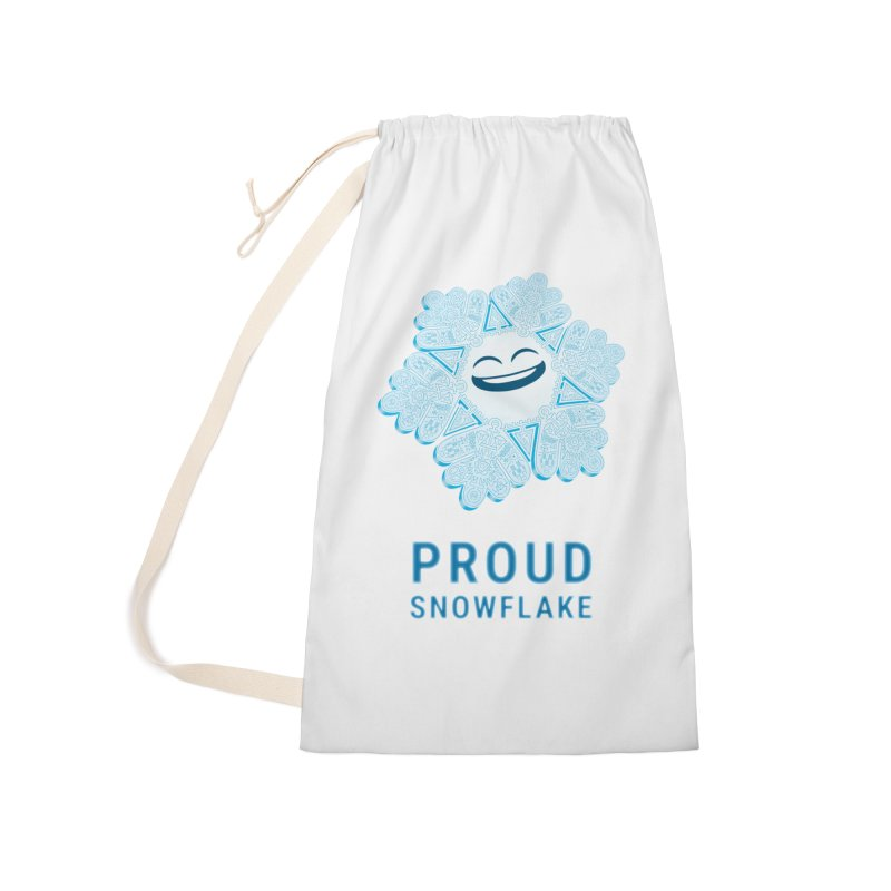 Proud Snowflake Accessories Laundry Bag Bag by BRETT WISEMAN