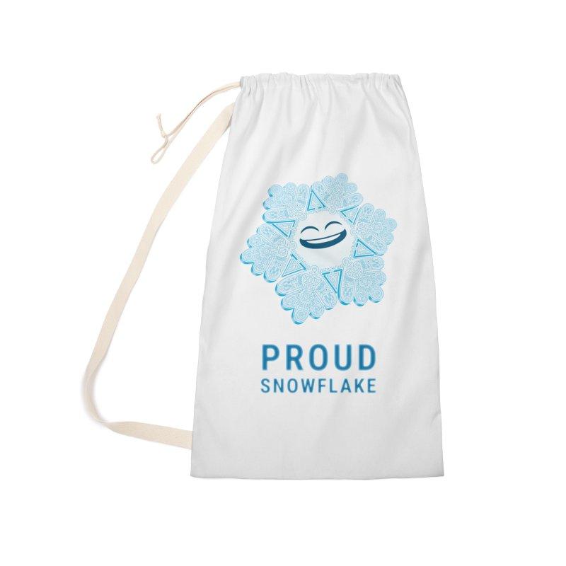 Proud Snowflake Accessories Bag by BRETT WISEMAN