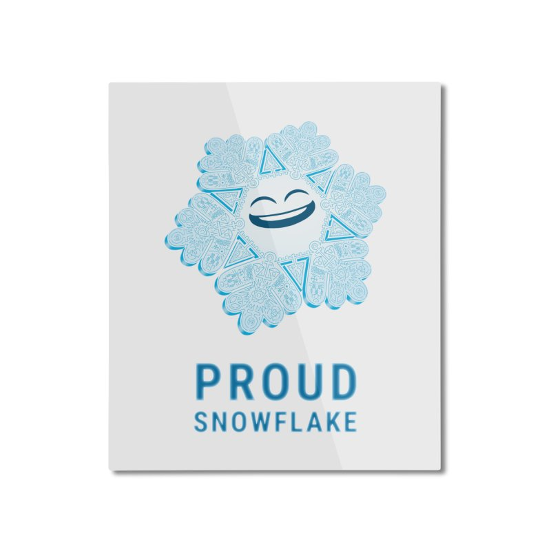 Proud Snowflake Home Mounted Aluminum Print by BRETT WISEMAN