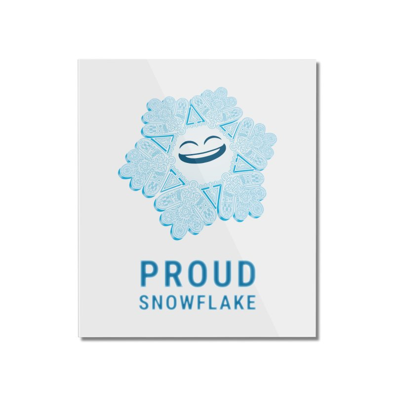 Proud Snowflake Home Mounted Acrylic Print by BRETT WISEMAN