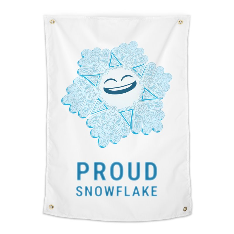 Proud Snowflake Home Tapestry by BRETT WISEMAN