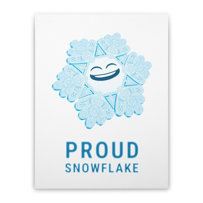 Proud Snowflake Home Stretched Canvas by BRETT WISEMAN