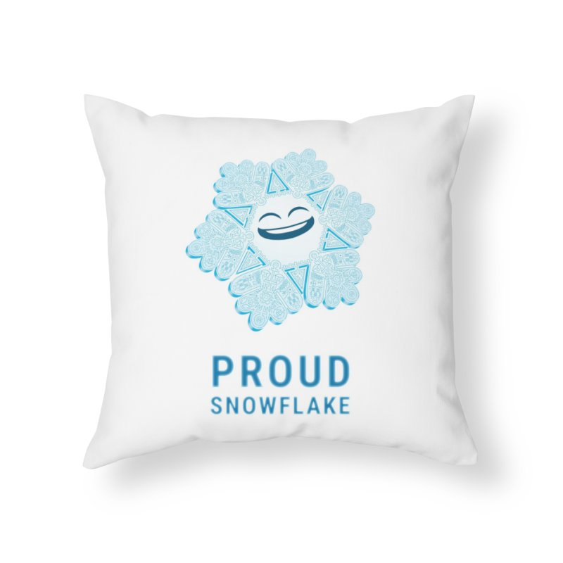 Proud Snowflake Home Throw Pillow by BRETT WISEMAN
