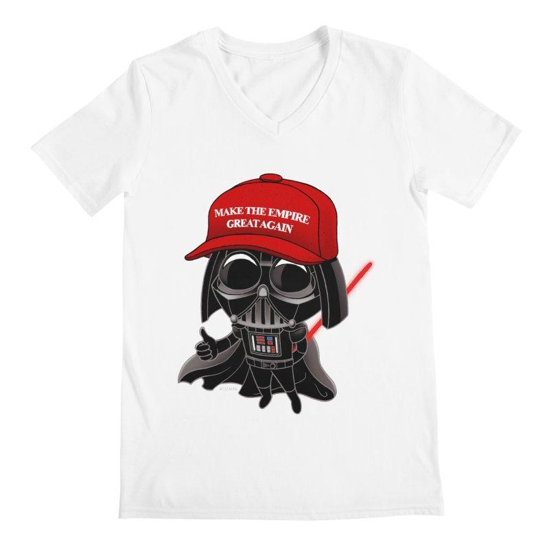 Make the Empire Great Again Men's V-Neck by BRETT WISEMAN