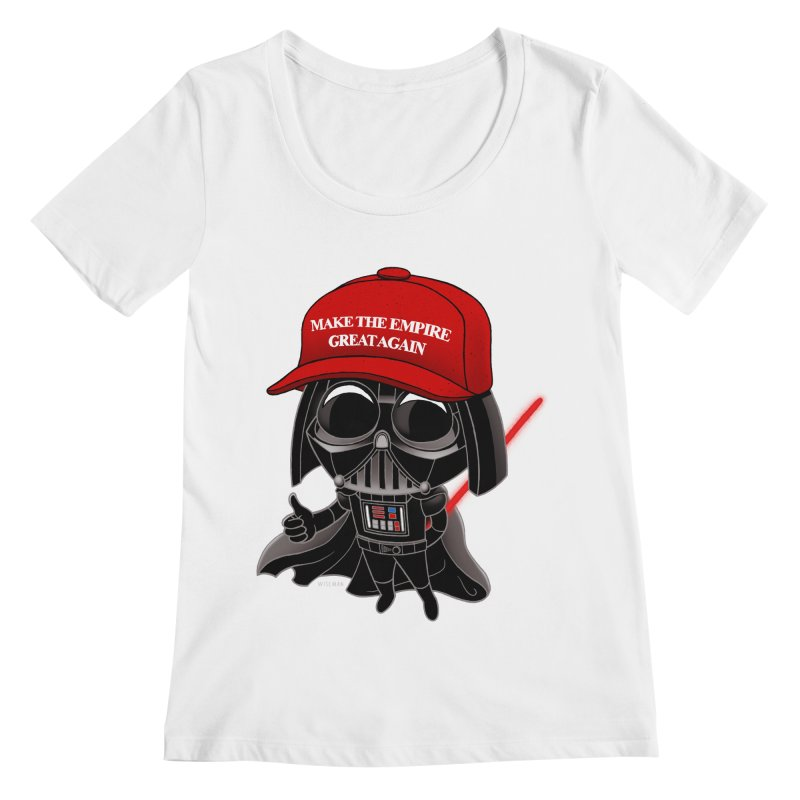 Make the Empire Great Again Women's Regular Scoop Neck by BRETT WISEMAN
