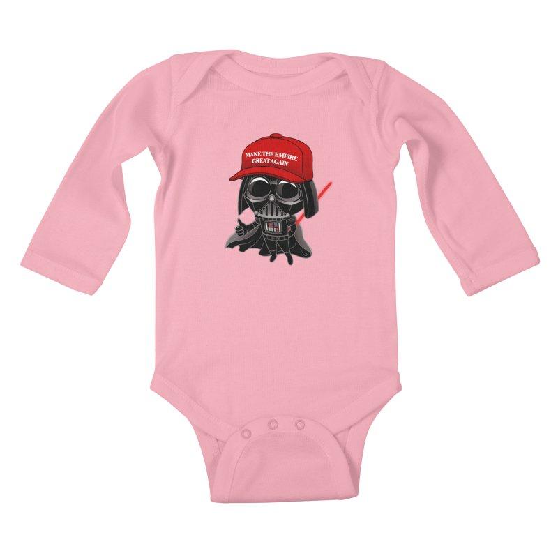Make the Empire Great Again Kids Baby Longsleeve Bodysuit by BRETT WISEMAN