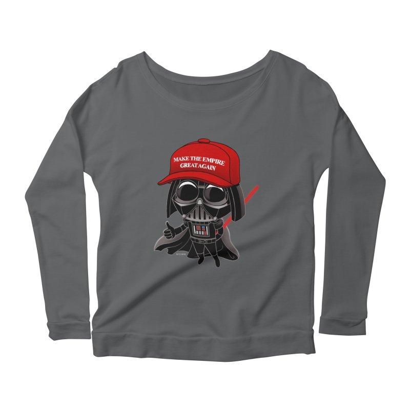 Make the Empire Great Again Women's Scoop Neck Longsleeve T-Shirt by BRETT WISEMAN