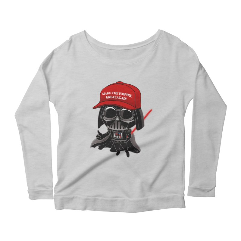 Make the Empire Great Again Women's Scoop Neck Longsleeve T-Shirt by BRETT WISEMAN