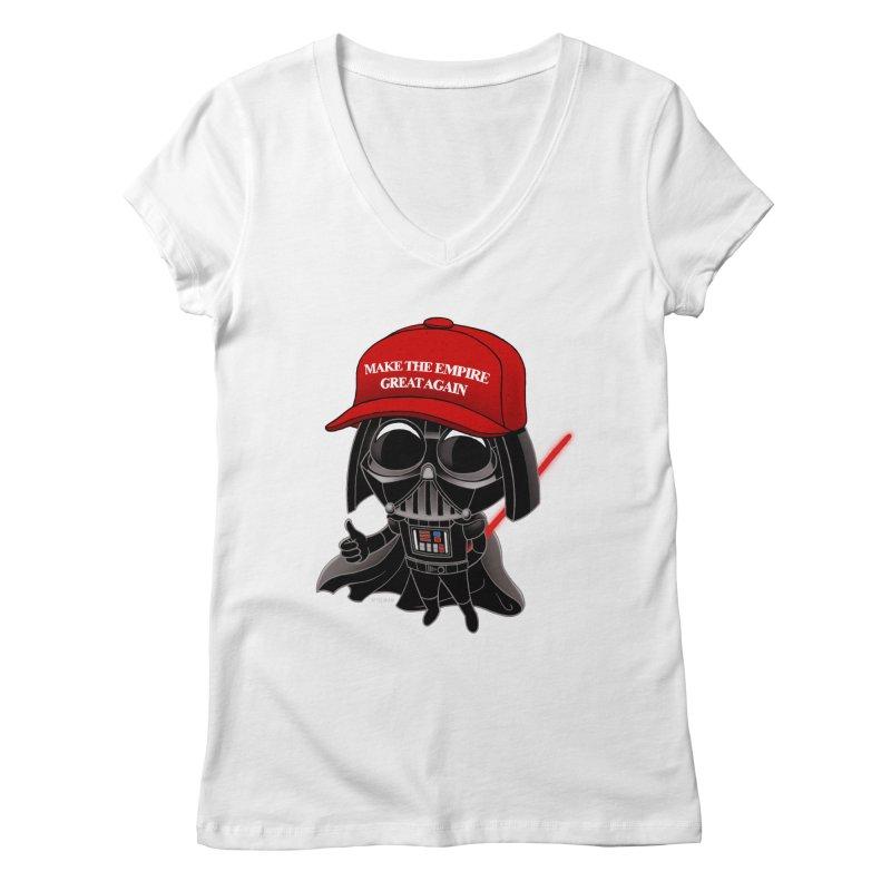Make the Empire Great Again Women's Regular V-Neck by BRETT WISEMAN