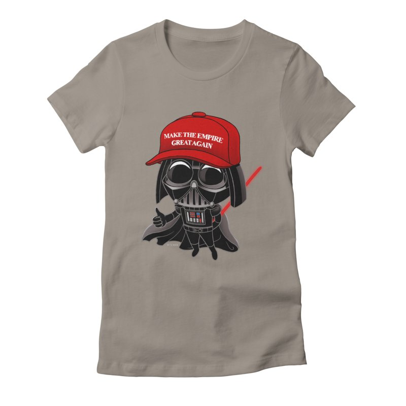 Make the Empire Great Again Women's Fitted T-Shirt by BRETT WISEMAN