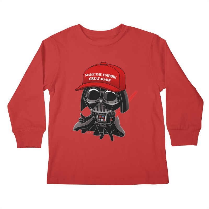 Make the Empire Great Again Kids Longsleeve T-Shirt by BRETT WISEMAN