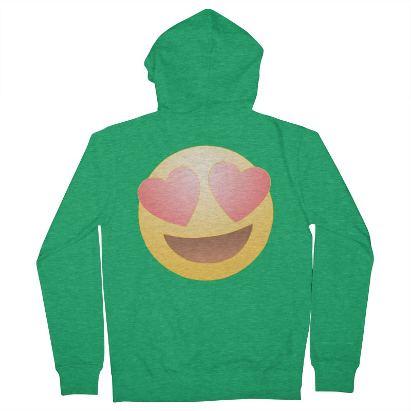 Emoji in Love Women's Zip-Up Hoody by BRETT WISEMAN