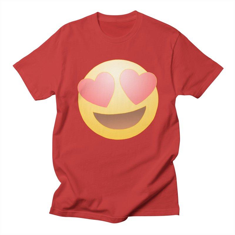 Emoji in Love Men's T-Shirt by BRETT WISEMAN