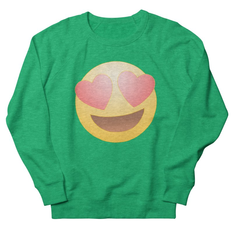 Emoji in Love Women's Sweatshirt by BRETT WISEMAN