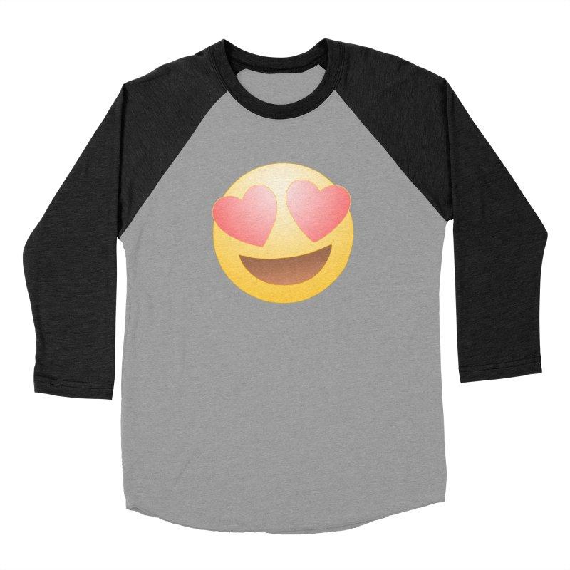 Emoji in Love Women's Baseball Triblend Longsleeve T-Shirt by BRETT WISEMAN