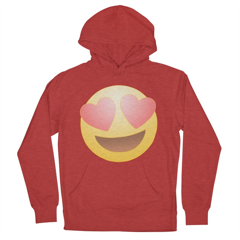 Emoji in Love Women's French Terry Pullover Hoody by BRETT WISEMAN