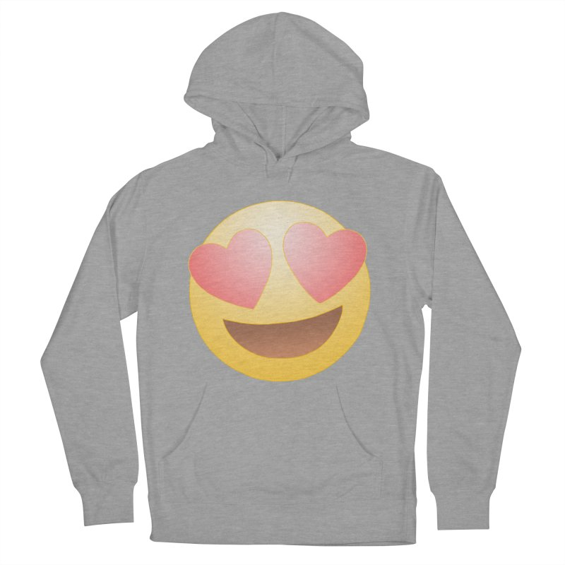 Emoji in Love Men's French Terry Pullover Hoody by BRETT WISEMAN