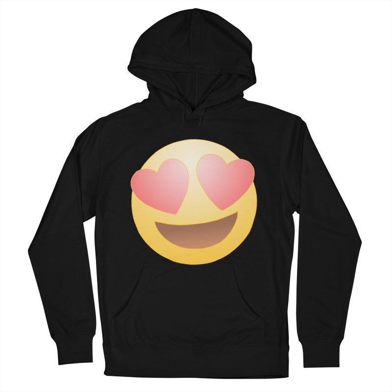 Emoji in Love Men's French Terry Pullover Hoody by BRETT WISEMAN