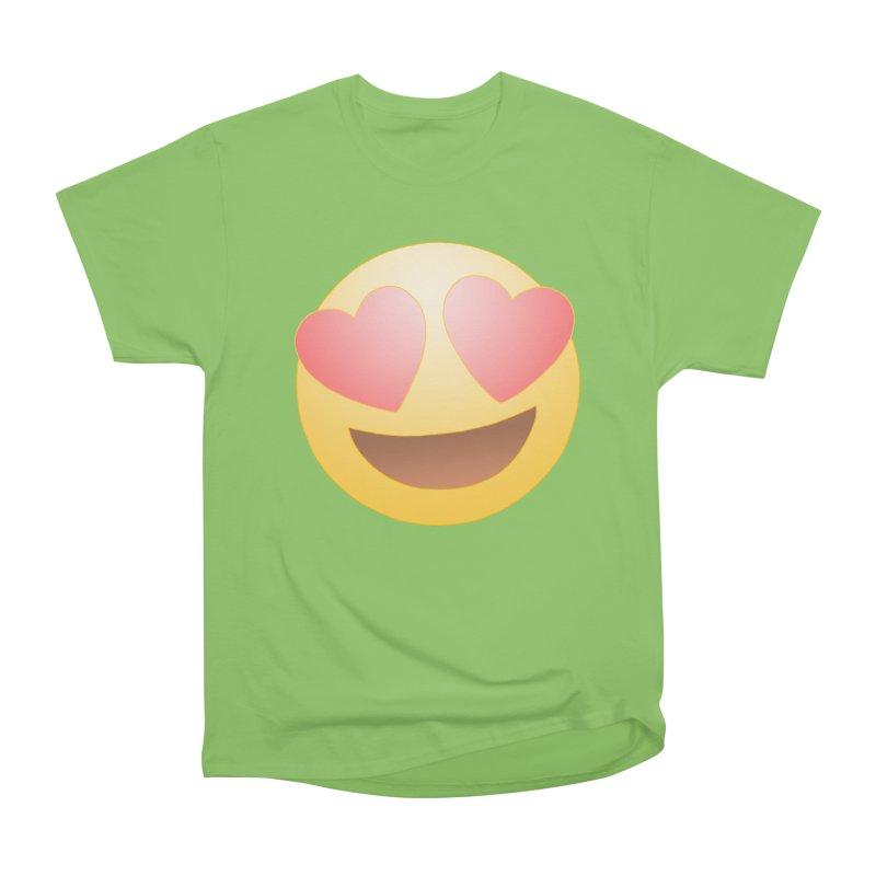 Emoji in Love Women's Heavyweight Unisex T-Shirt by BRETT WISEMAN