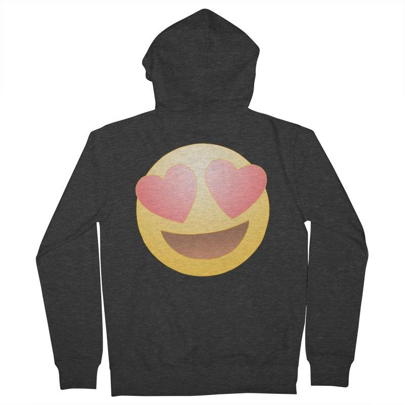 Emoji in Love Women's Zip-Up Hoody by BRETT WISEMAN