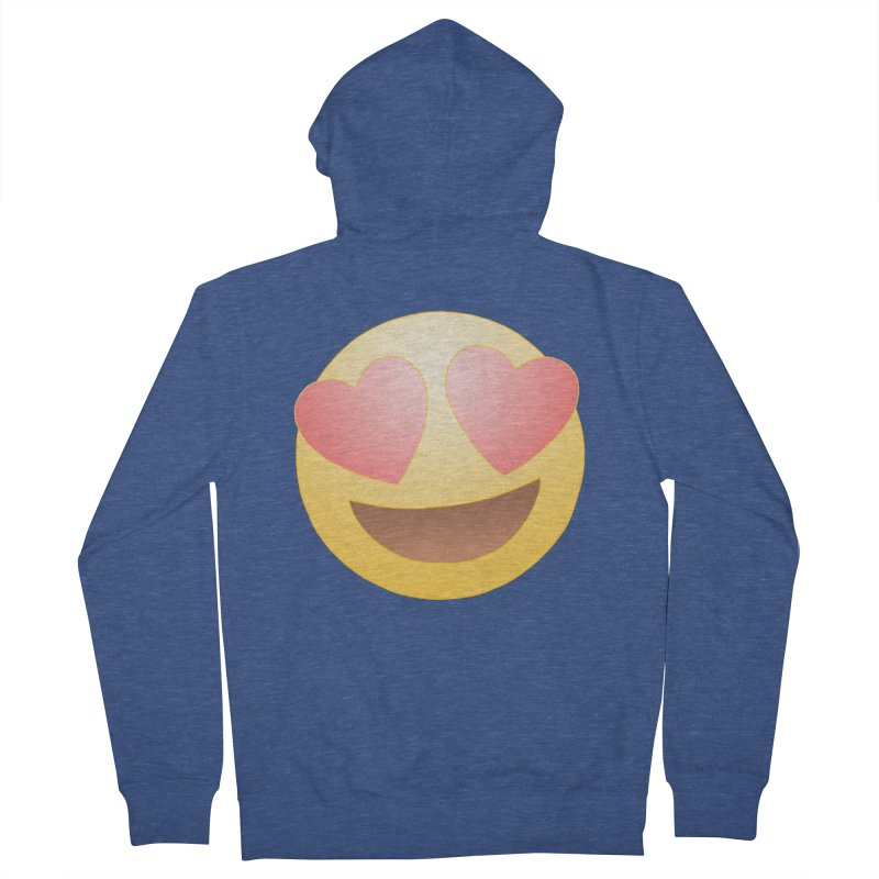 Emoji in Love Women's French Terry Zip-Up Hoody by BRETT WISEMAN