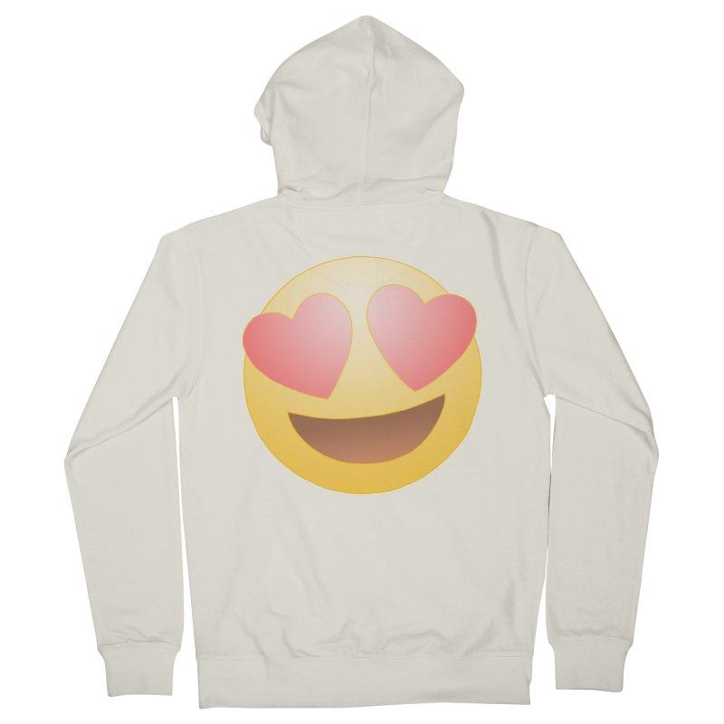 Emoji in Love Women's French Terry Zip-Up Hoody by BRETT WISEMAN