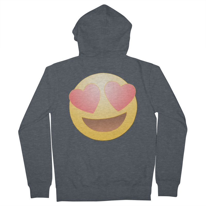 Emoji in Love Men's Zip-Up Hoody by BRETT WISEMAN