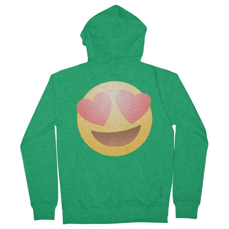 Emoji in Love Men's French Terry Zip-Up Hoody by BRETT WISEMAN
