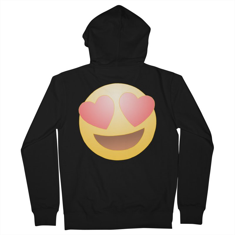 Emoji in Love Men's French Terry Zip-Up Hoody by BRETT WISEMAN