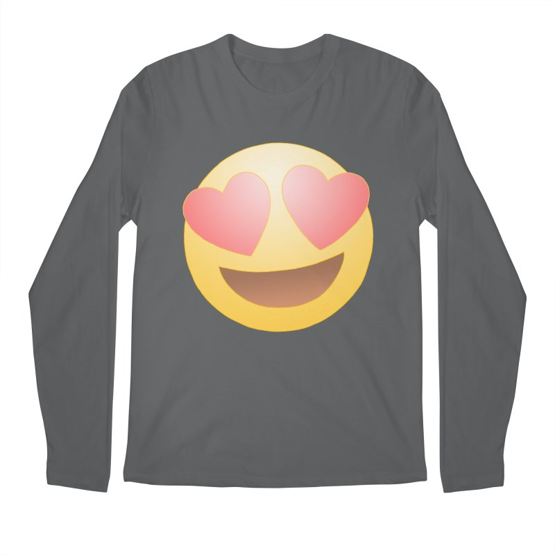 Emoji in Love Men's Regular Longsleeve T-Shirt by BRETT WISEMAN