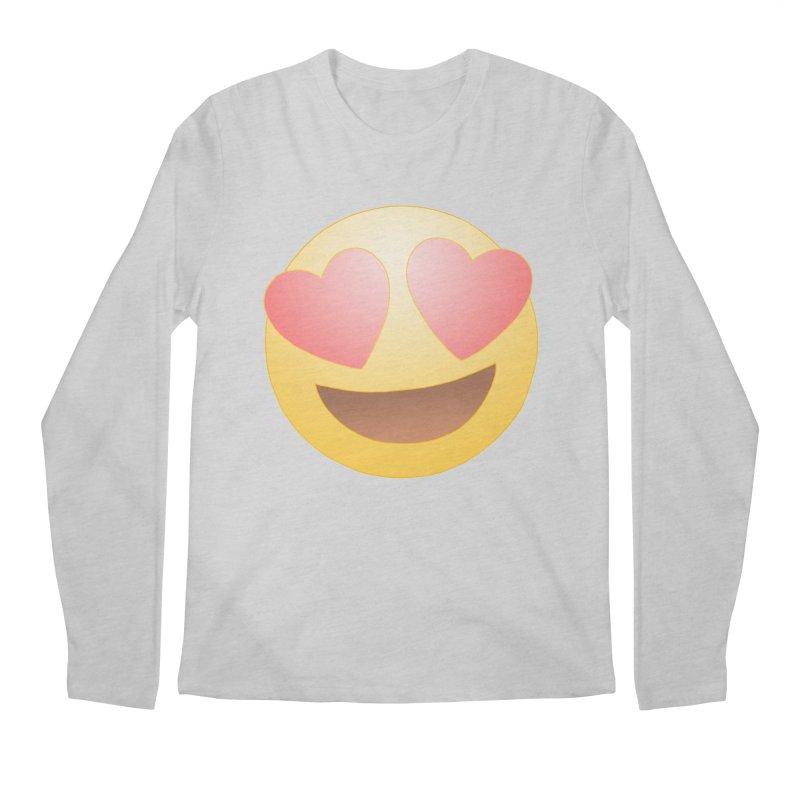 Emoji in Love Men's Regular Longsleeve T-Shirt by BRETT WISEMAN