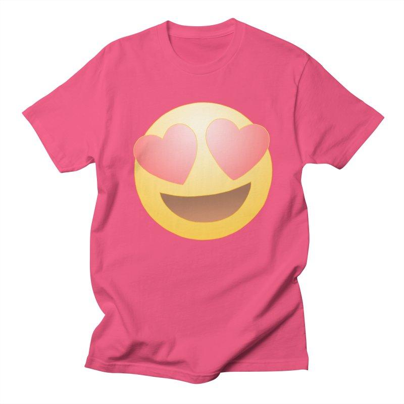 Emoji in Love Men's Regular T-Shirt by BRETT WISEMAN