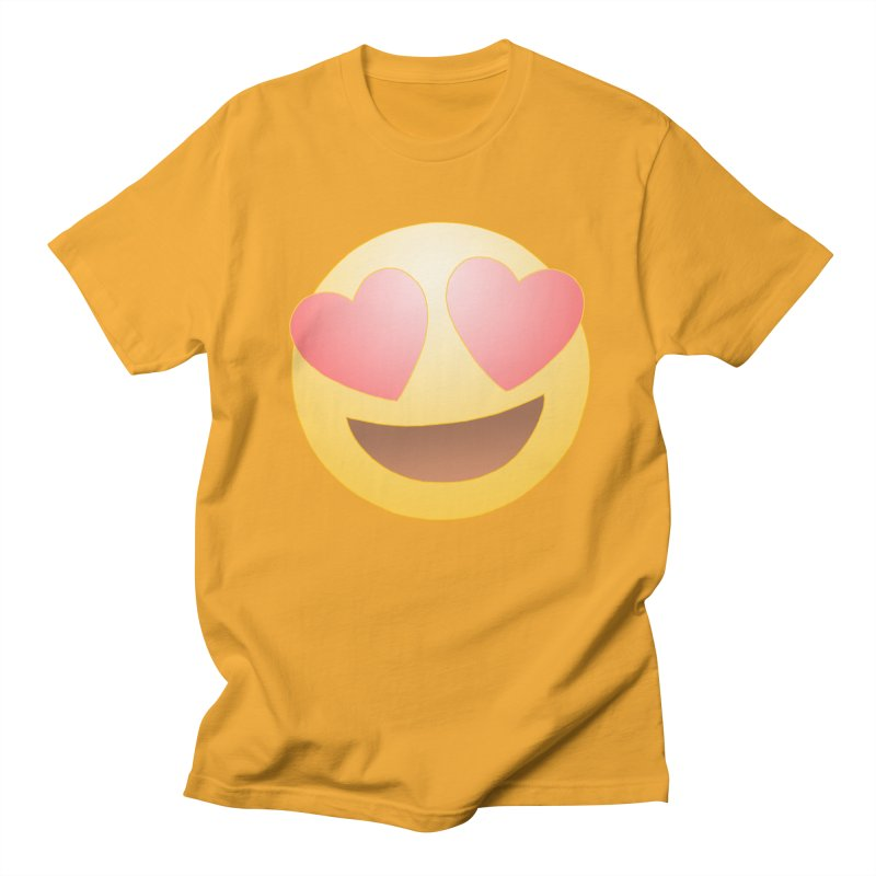 Emoji in Love Women's Regular Unisex T-Shirt by BRETT WISEMAN