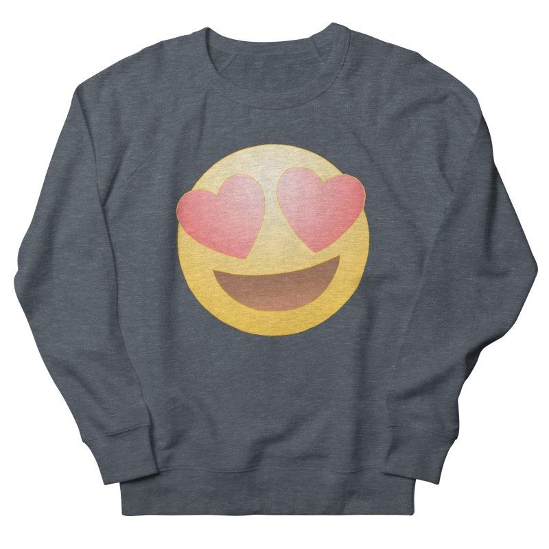 Emoji in Love Women's French Terry Sweatshirt by BRETT WISEMAN