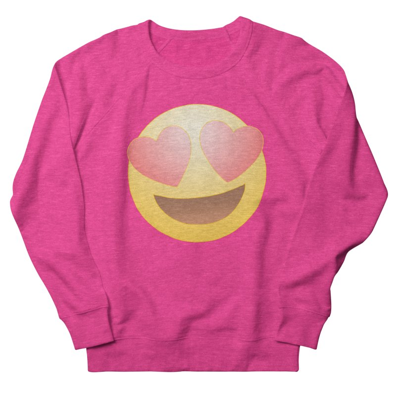 Emoji in Love Women's French Terry Sweatshirt by BRETT WISEMAN