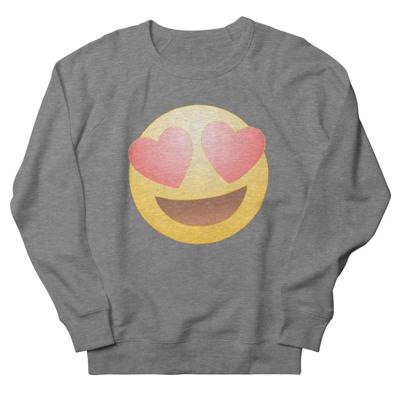 Emoji in Love Men's French Terry Sweatshirt by BRETT WISEMAN