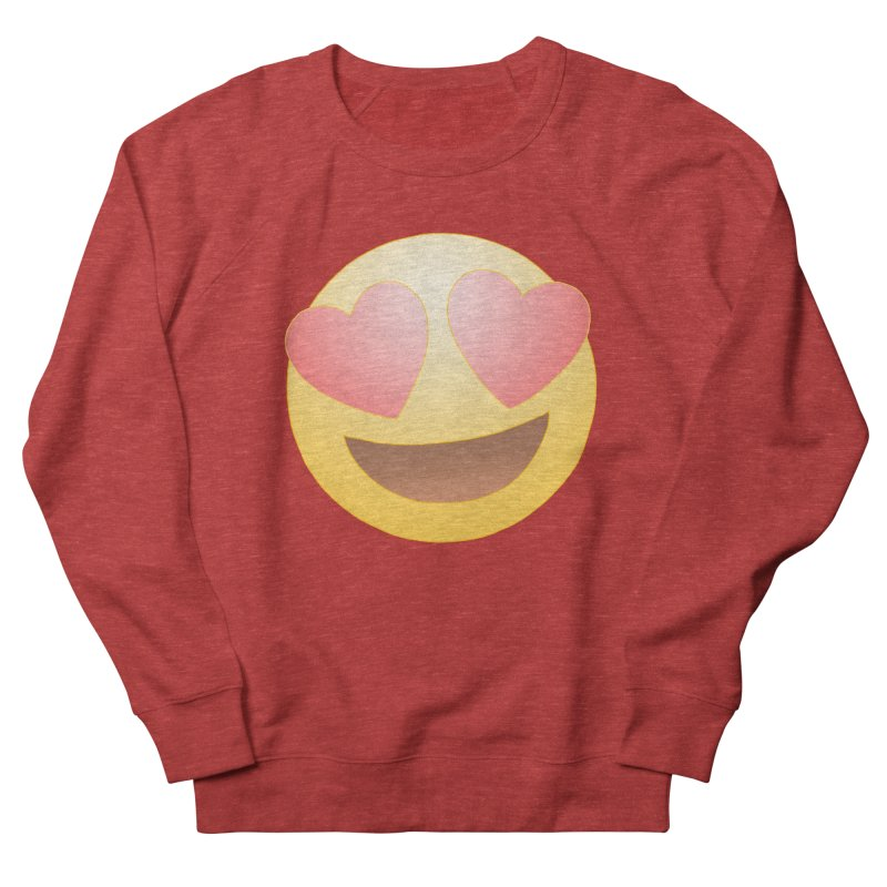 Emoji in Love Men's French Terry Sweatshirt by BRETT WISEMAN