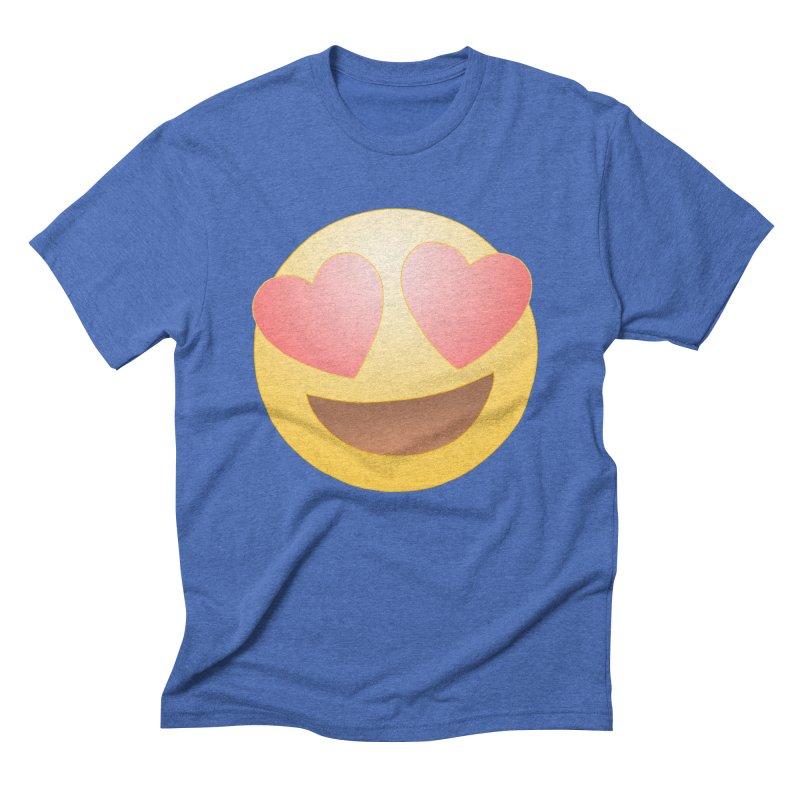Emoji in Love Men's Triblend T-Shirt by BRETT WISEMAN