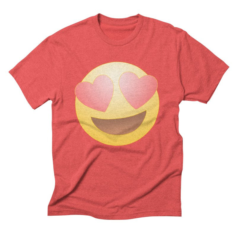 Emoji in Love Men's Triblend T-Shirt by BRETT WISEMAN