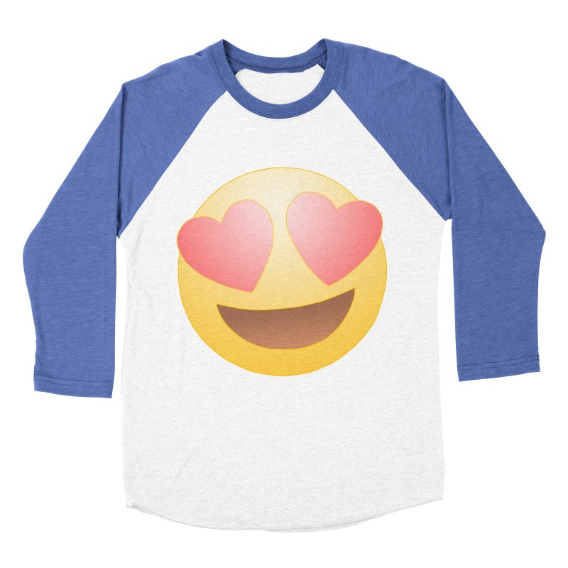 Emoji in Love Women's Baseball Triblend Longsleeve T-Shirt by BRETT WISEMAN