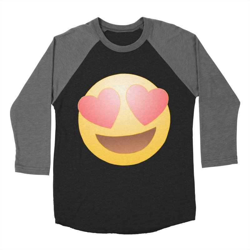Emoji in Love Men's Baseball Triblend Longsleeve T-Shirt by BRETT WISEMAN