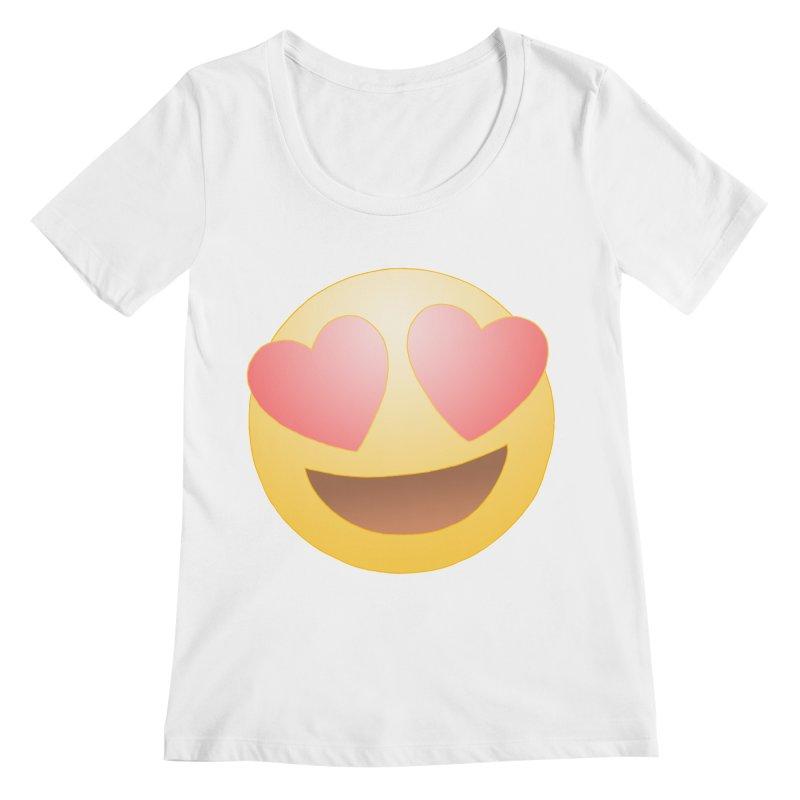 Emoji in Love Women's Regular Scoop Neck by BRETT WISEMAN