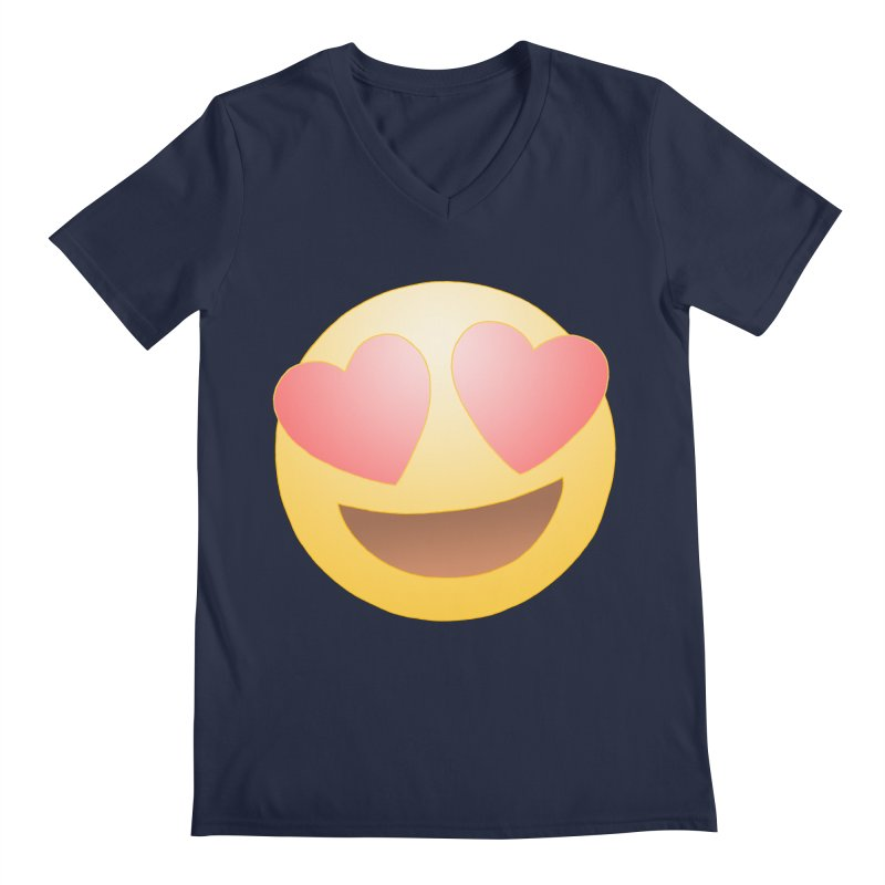 Emoji in Love Men's V-Neck by BRETT WISEMAN