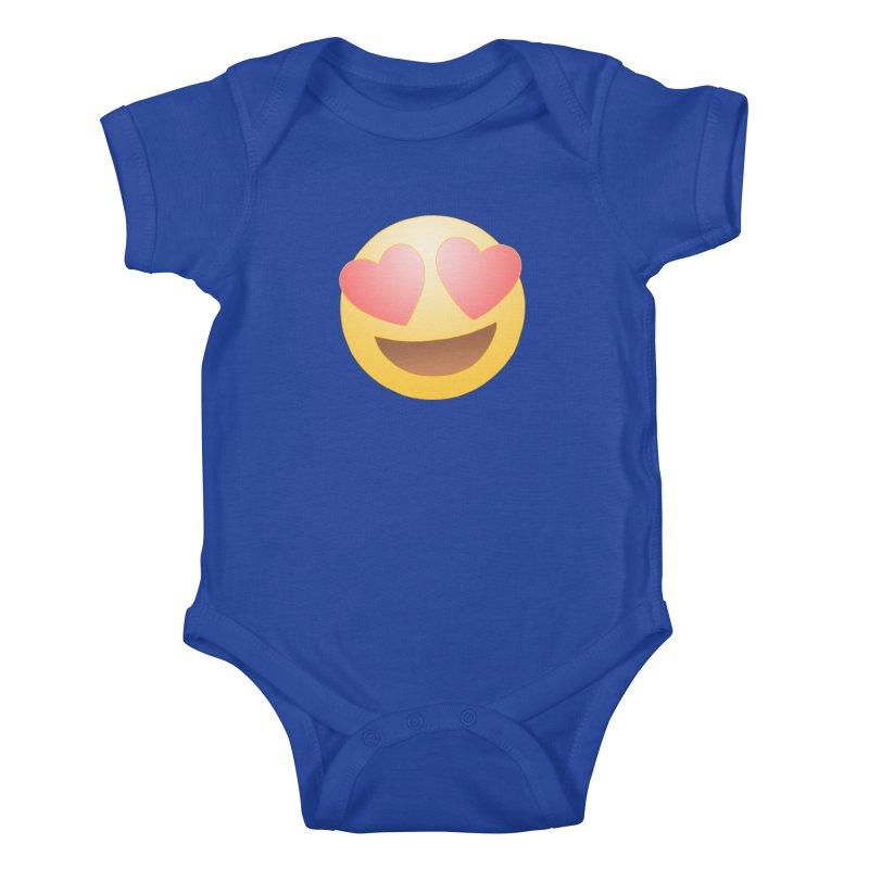 Emoji in Love Kids Baby Bodysuit by BRETT WISEMAN